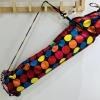 African 'kitengye' fabric exercise mat bags - polka dot