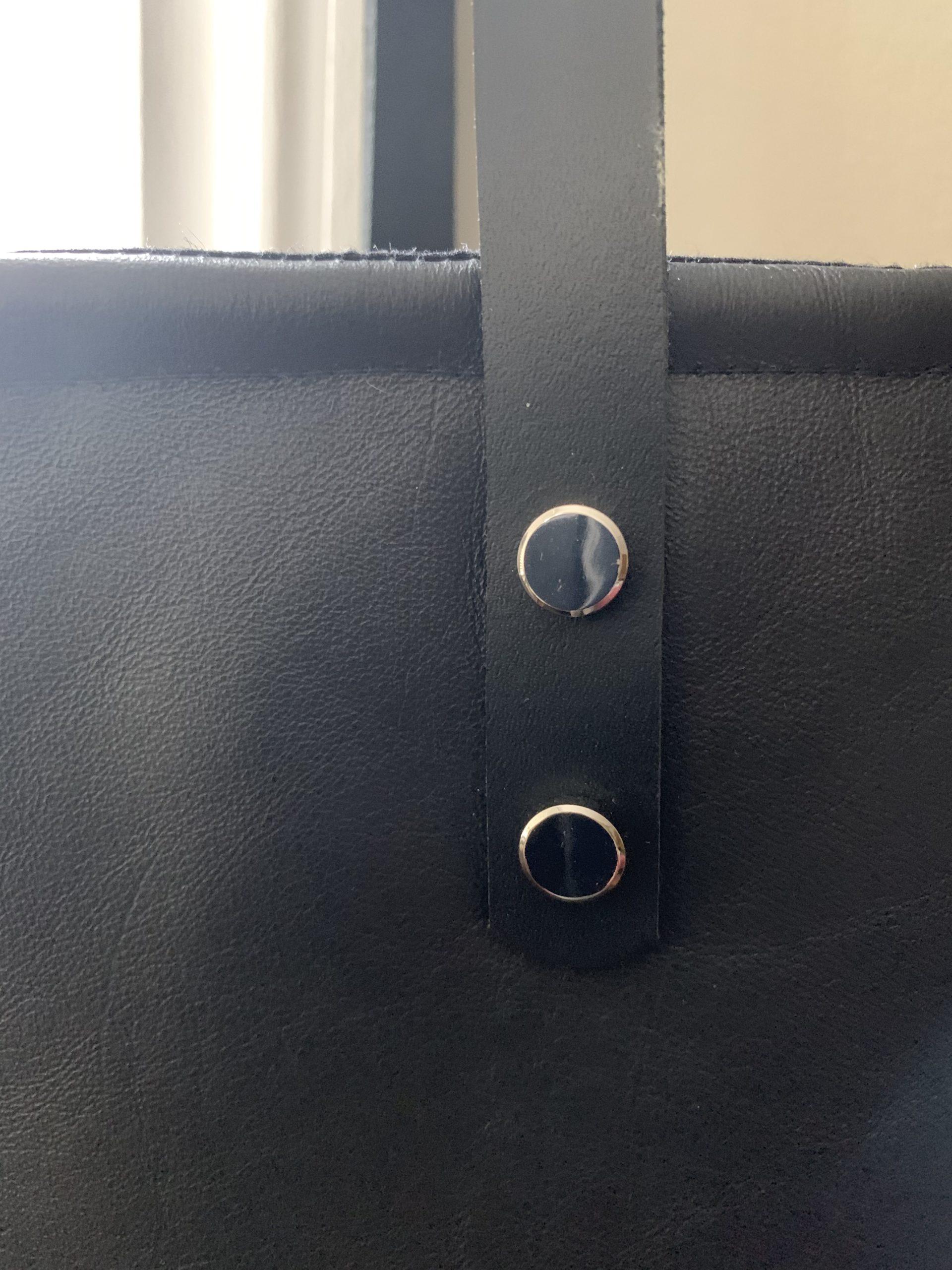 Leather Dashiki Tote Bag 3