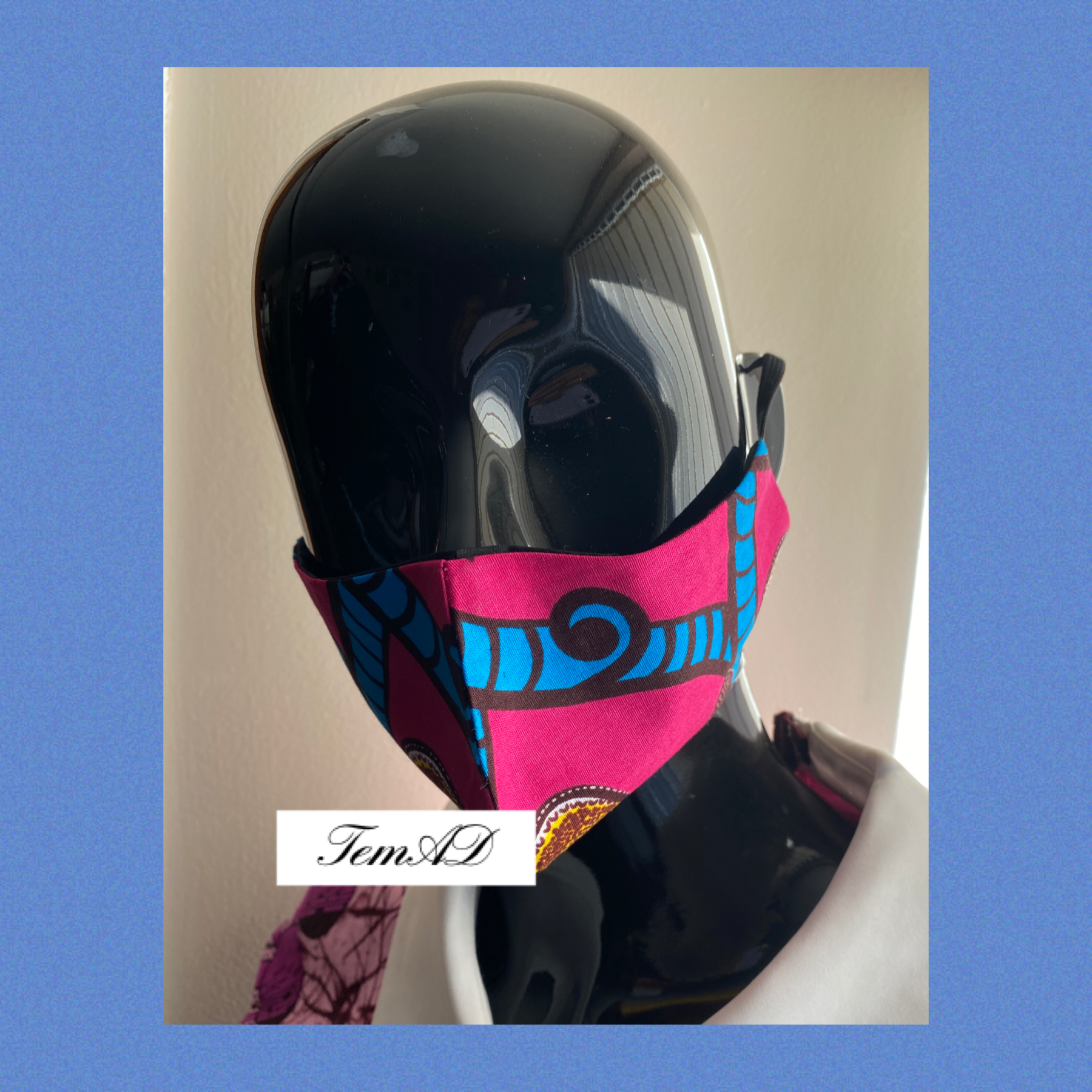 Facemask – Pink/ Blue 1