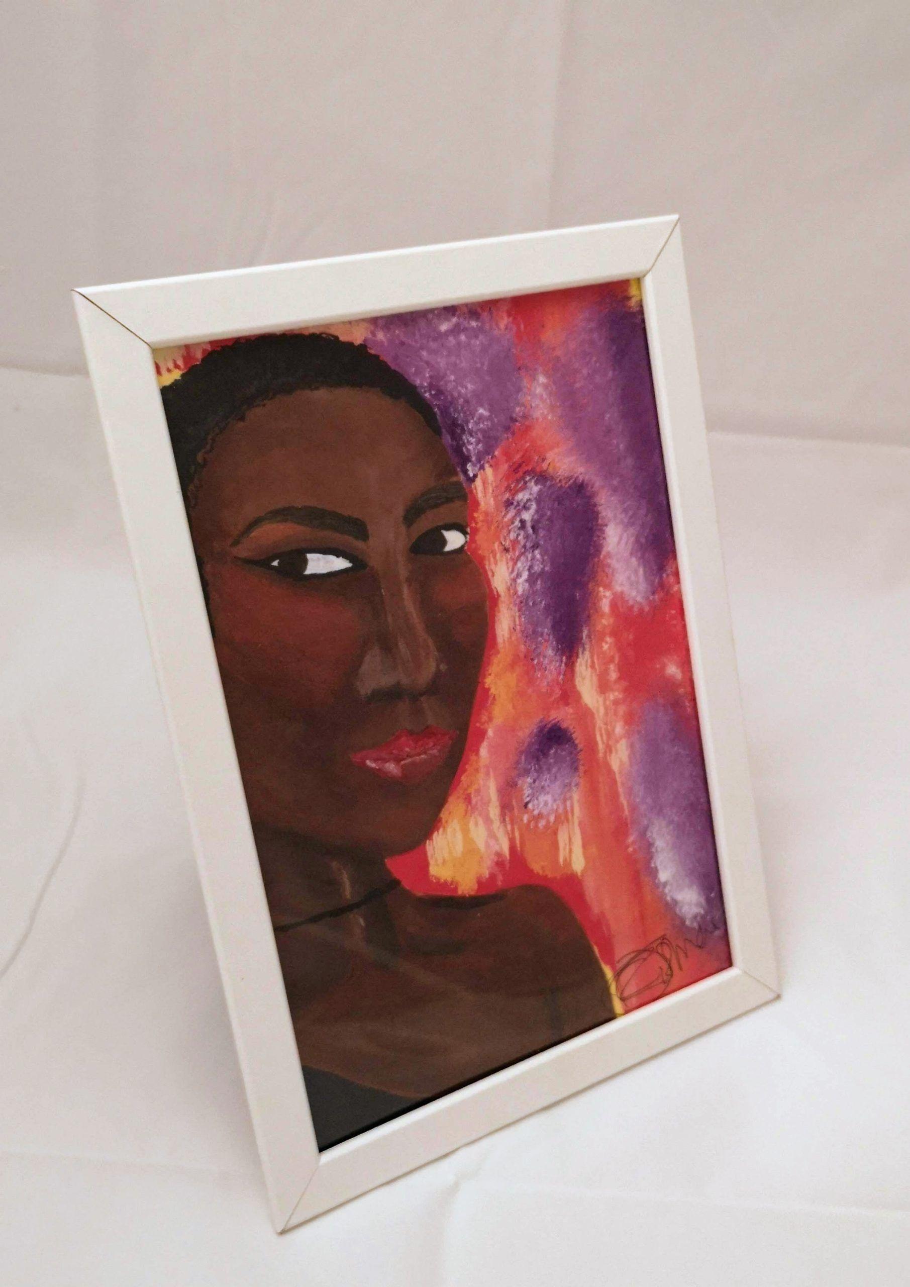 """Congolese Princess"" A4 Framed Print 1"