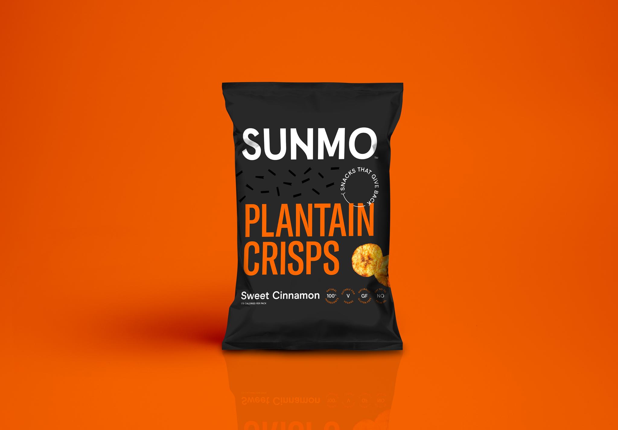 Plantain Crisps – Sweet Cinnamon Box of 12 1