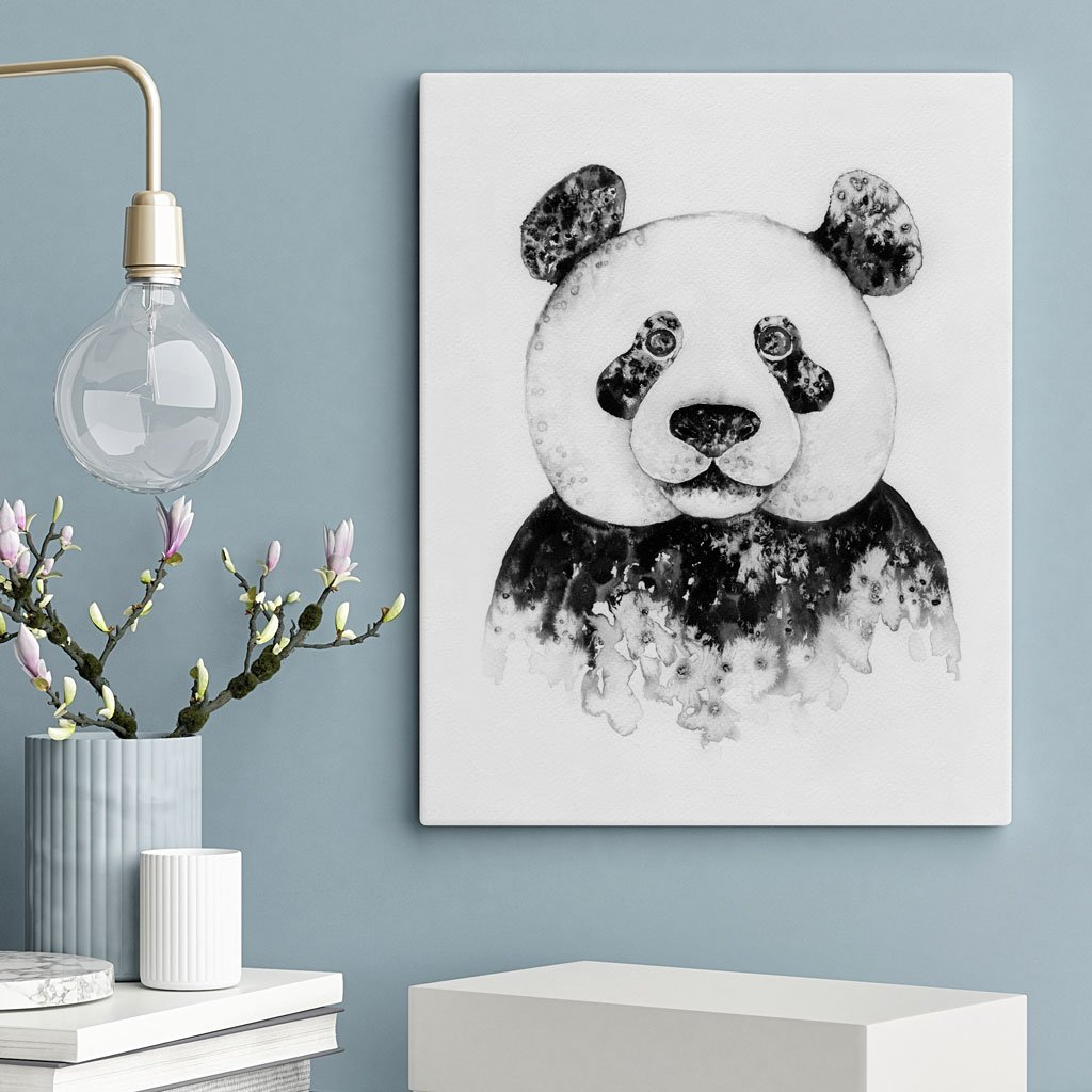 Ink Panda Print Unframed