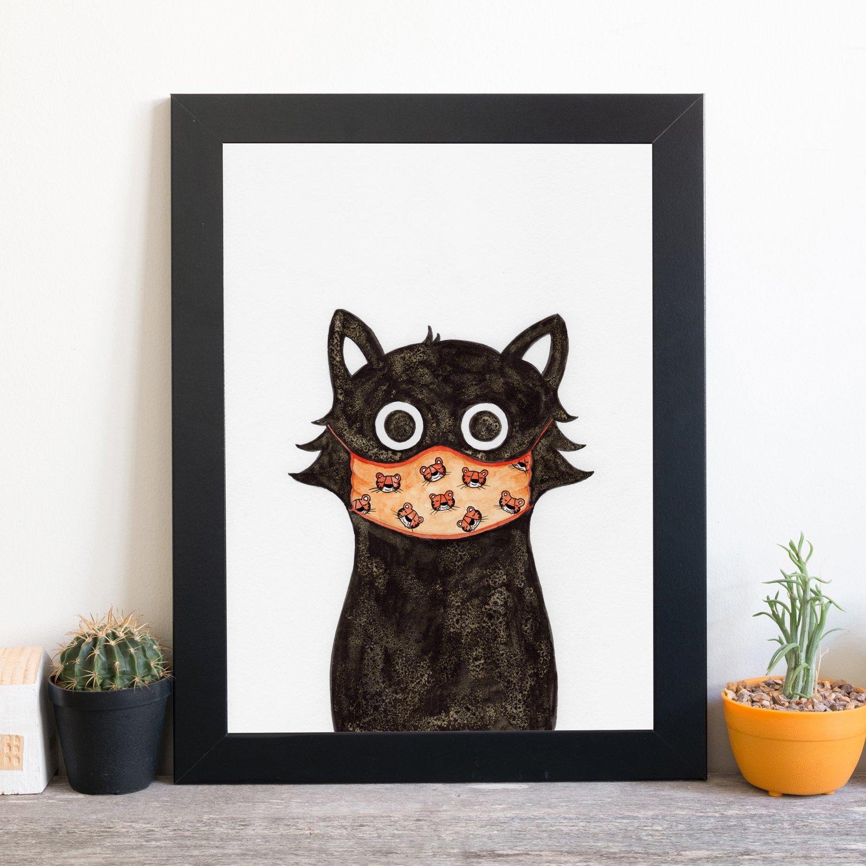 Tiger Cat Print UNFRAMED