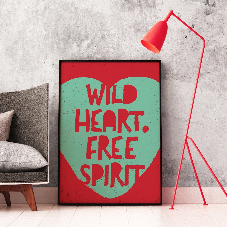 Baldy And The Fidget Wild Heart Free Spirit Print