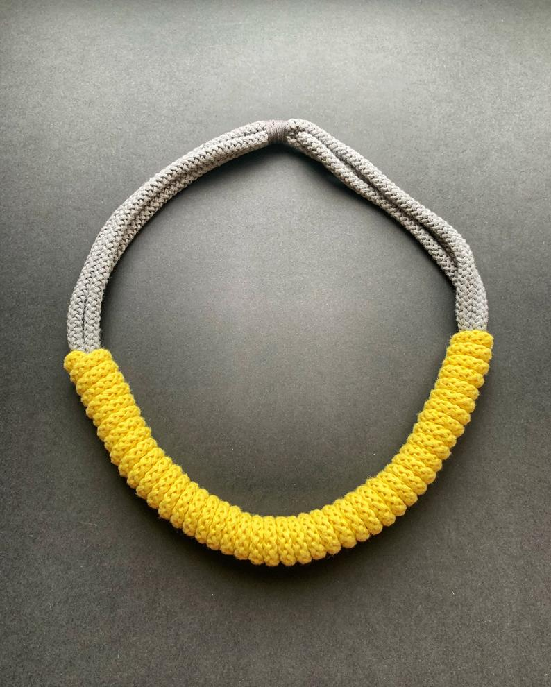 The Rita Necklace – Handmade by Tinni – Lemon Yellow