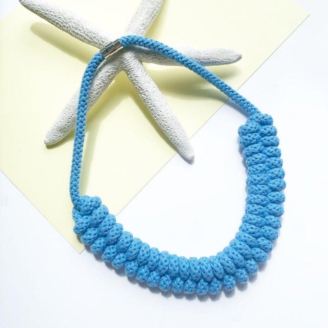 Handemade by Tinni – Maya Necklace.Blue jpeg