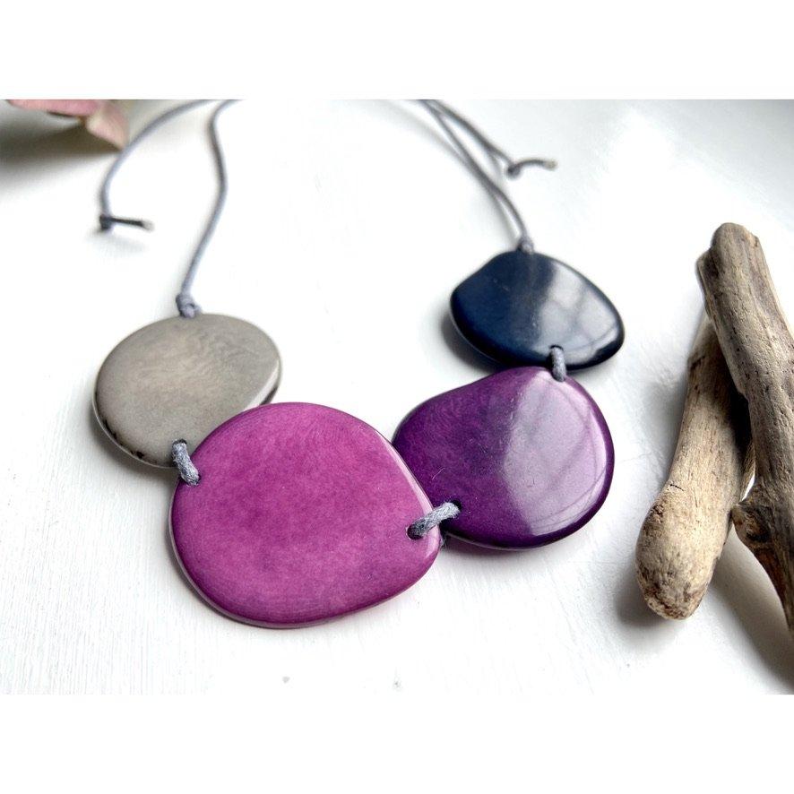 purple-grey-tagua-necklace-jewellery-adjustable