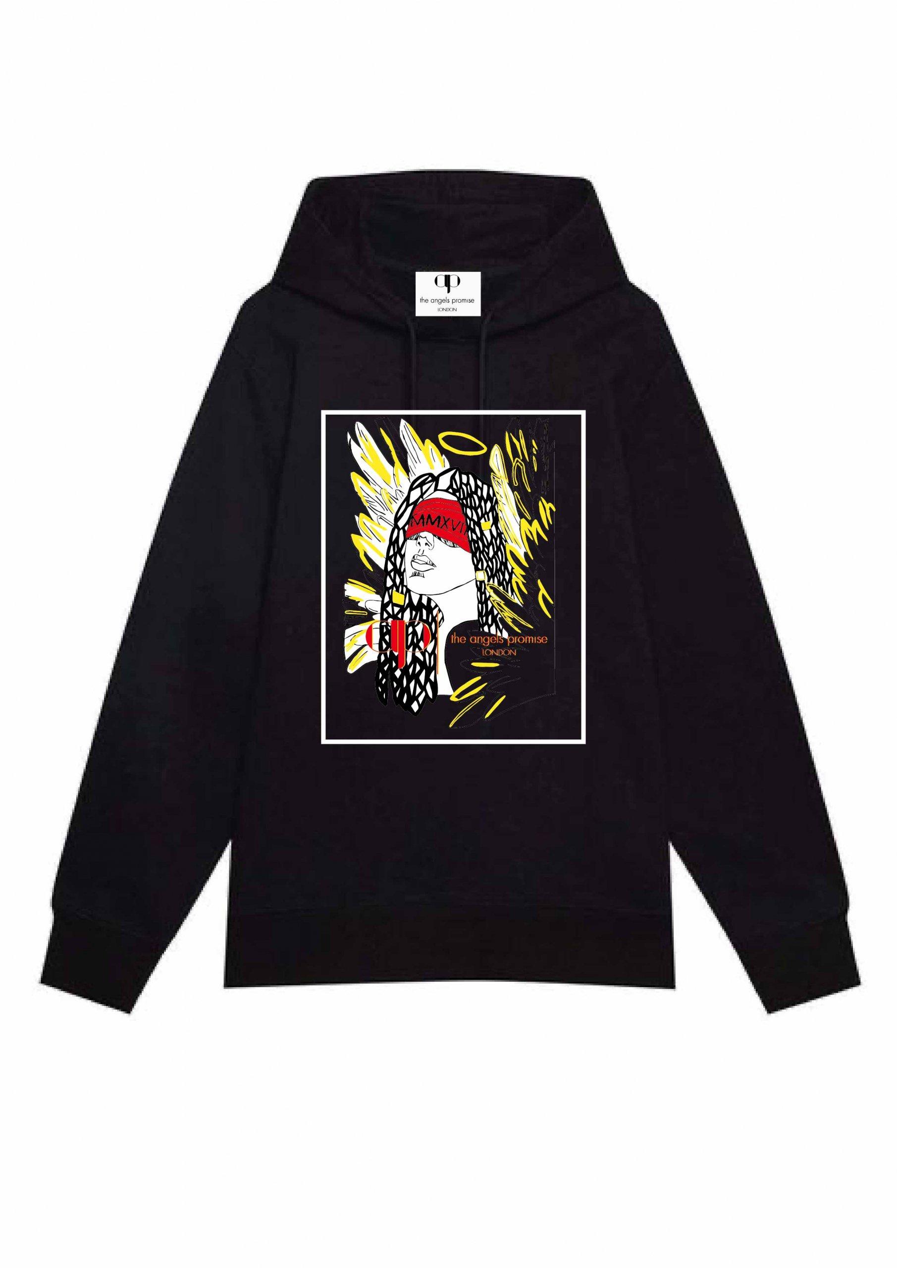 AP Black Hoodie – Angel Edition